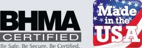 All product manufactured and assembled in the United States. ISO 9001 certified.
