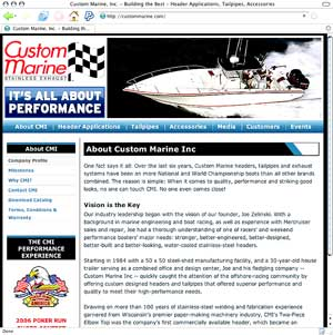 Custom Marine website - custommarine.com - thumbnail