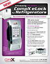 Click here to download a pdf of the CompX eLock 150 series **refrigerator** sheet