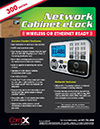 Click here to download a pdf of the CompX eLock networking cabinet sheet