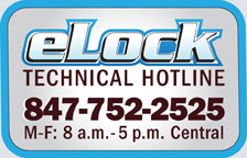 CompX elock Technical Assistance Hotline - 847-752-2525