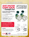 Click here to download a pdf of the CompX Fort Dust Shutter Cam Lock sheet