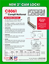 Click here to download a pdf of the CompX National C8061 2 inch Cam lock sheet