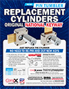 Click here to download a pdf of the CompX National Replacement Cylinders sheet