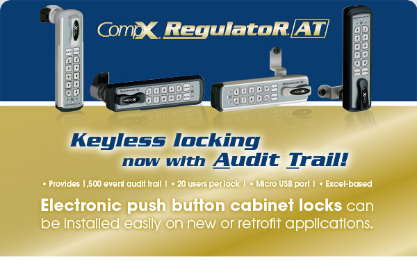 CompX RegulatoR AT: Keyless locking now with Audit Trail!