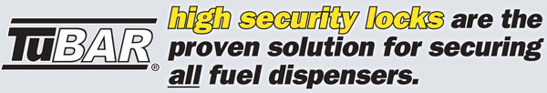 TuBAR high security locks are the proven solution for securing all fuel dispensers.
